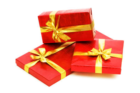 Gift boxes isolated on the white background Stock Photo - 5314264