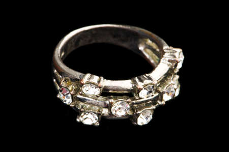 Jewellery ring isolated on the black background Stock Photo - 5314208
