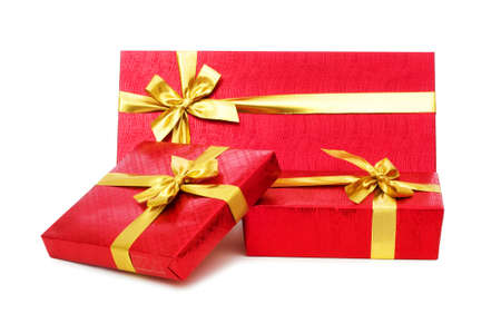 Gift boxes isolated on the white background Stock Photo - 5348990