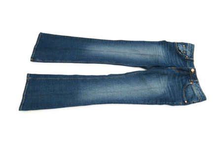 Pair of jeans isolated on the white background Stock Photo - 5398656