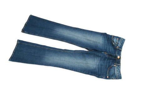 Pair of jeans isolated on the white background Stock Photo - 5436316