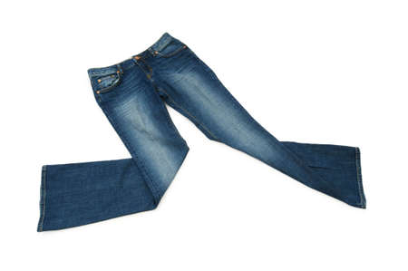Pair of jeans isolated on the white background Stock Photo - 5561884