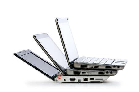 netbooks: Stylish netbooks isolated on the white background