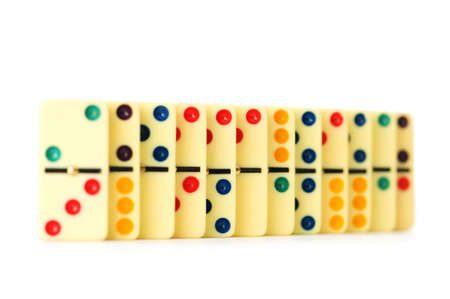 Colourful dominoes isolated on the white Stock Photo - 5561524