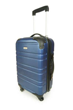 Blue case isolated on the white background Stock Photo - 5658287