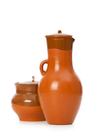 Clay jars isolated on the white background Stock Photo - 5718136