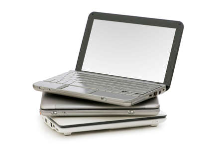 Netbooks isolated on the white background photo