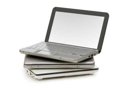 Netbooks isolated on the white background Stock Photo - 5718133