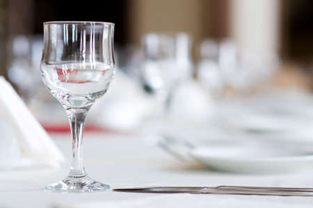 fine silver: Wine glasses on the table - shallow depth of field