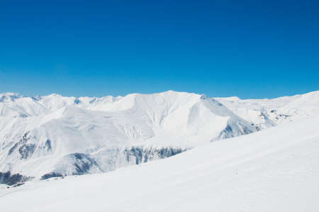 High mountains under snow in the winter Stock Photo - 5778515