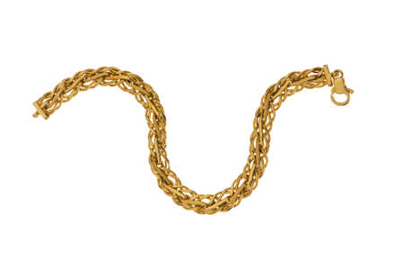 Golden chain isolated  on the white background Stock Photo - 5778507