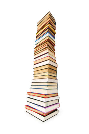 Stack of books isolated on the white Stock Photo - 5778436