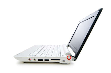 Netbook isolated on the white background Stock Photo - 5778302