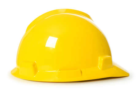 yellow helmet: Hard hat isolated on the white background