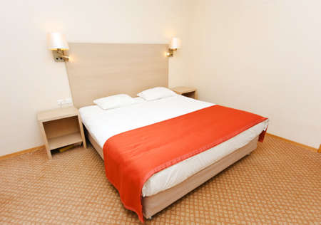 Double bed in the hotel room Stock Photo - 5778493