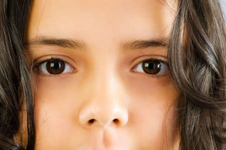 Close up of girl face photo