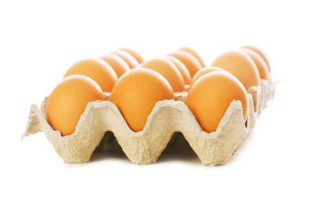 Many eggs isolated on the white background Stock Photo - 5962932