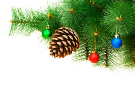 Christmas decoration on the tree photo