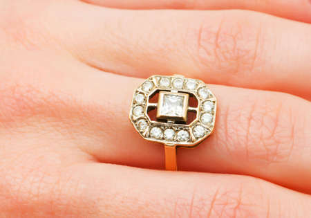 Hand with golden ring Stock Photo - 5963017