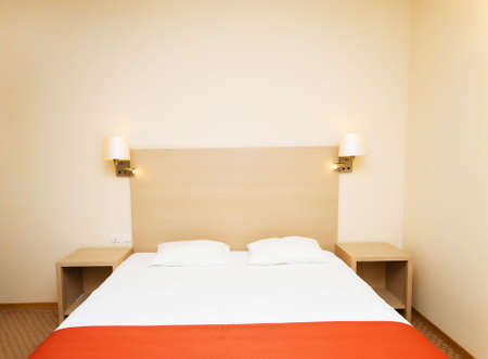 Double bed in the hotel room Stock Photo - 5962784