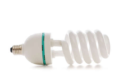 Energy saving lamp isolated on the white background photo