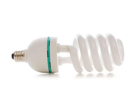 Energy saving lamp isolated on the white background photo