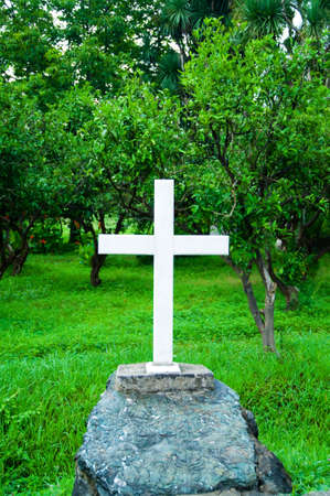 Cross at the grave Stock Photo - 5977542
