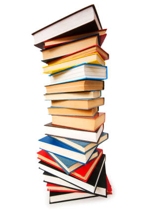Stack of books isolated on the white Stock Photo - 5977176