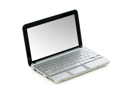 Netbook isolated on the white background photo