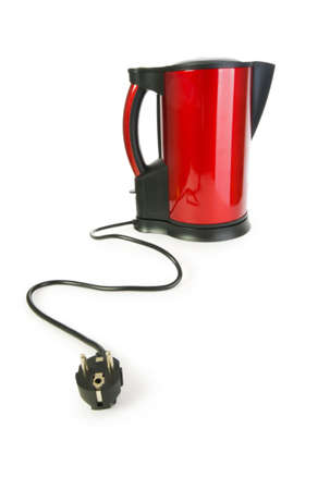 Red electrical kettle isolated on white Stock Photo - 5977189