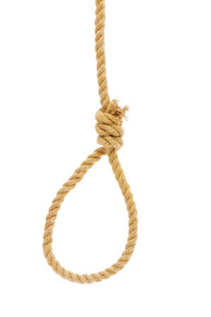 Noose made of rope against background photo