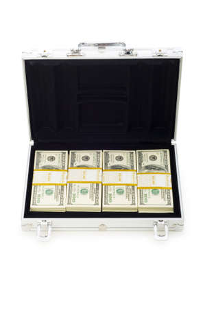 Money in the case isolated on white Stock Photo - 6040351