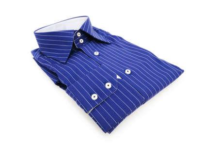 Blue shirt isolated on the white background Stock Photo - 6085543