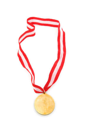 Golden medal isolated on the white background Stock Photo - 6085563