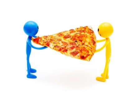 tabassum: Pizza isolated on the white background Stock Photo