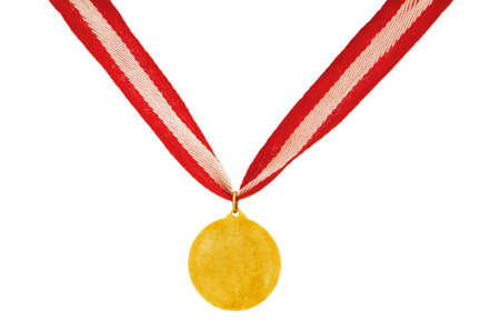 Golden medal isolated on the white background Stock Photo - 6256082