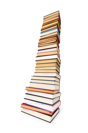 Stack of books isolated on the white Stock Photo - 6255898