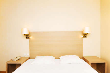 Double bed in the hotel room Stock Photo - 6256103
