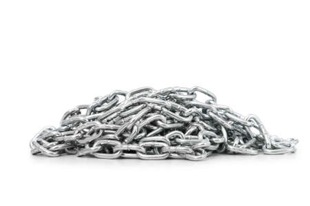 Silver chain isolated on the white background Stock Photo - 6291826