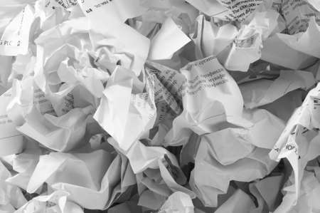 waster: Recycling concept with lots of waster paper Stock Photo