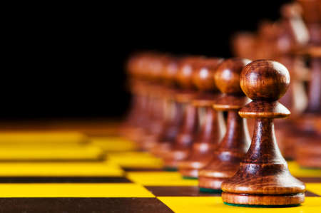 Chess concept with pieces on the board Stock Photo - 6291113