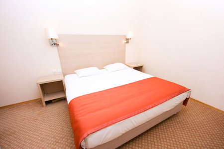 Double bed in the hotel room Stock Photo - 6291762
