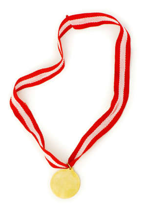 Golden medal isolated on the white background Stock Photo - 6314134
