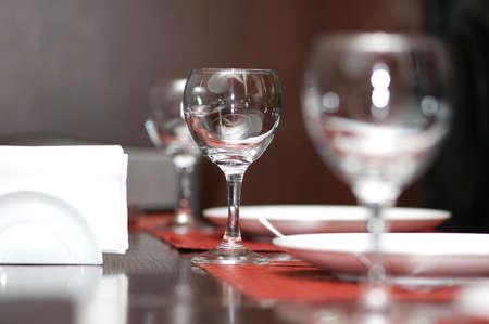 Wine glasses on  the table - shallow depth of field Stock Photo - 6314215
