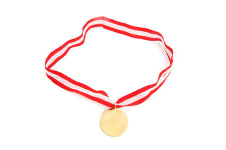 Golden medal isolated on the white background Stock Photo - 6374121