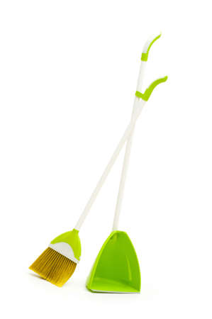 Cleaning broom isolated on the white background photo