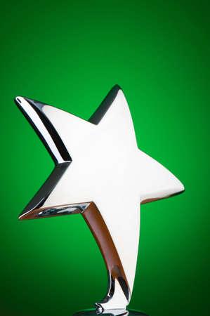 Star award against gradient background photo
