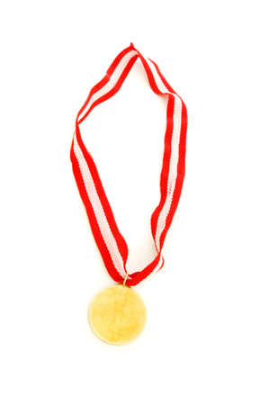 Golden medal isolated on the white background Stock Photo - 6458233