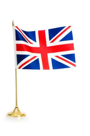 britain flag: Reino Unido aislado en blanco