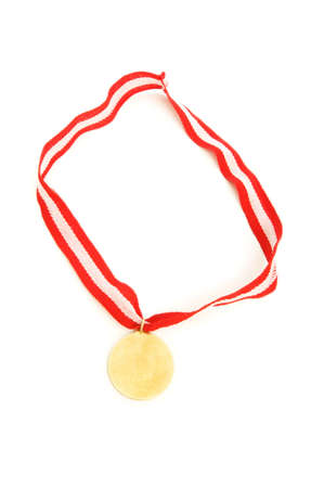 Golden medal isolated on the white background Stock Photo - 6554003